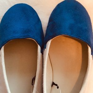 Eighty4 Faux Suede Ballet Shoes M-7/8 Blue/white